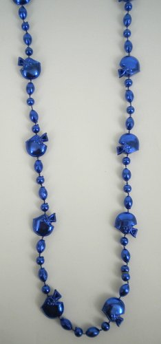 36 INCH Royal Blue Football Helmet Bead Necklace (DOZEN) - 1