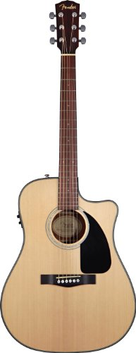Fender Cd-100Ce Dreadnought Cutaway Acoustic-Electric Guitar - Natural