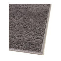 ikea indoor patterned gray entryway hallway runner mat rug