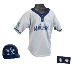 Seattle Mariners Baseball Helmet And Jersey Set by Hall of Fame Memorabilia
