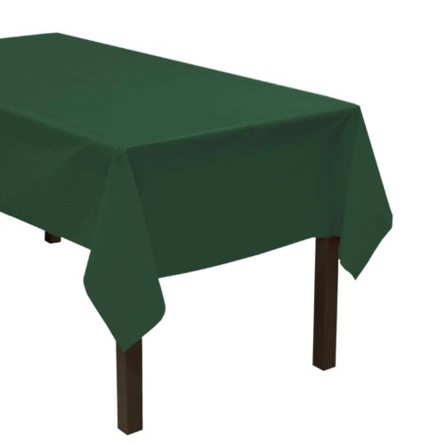 "Party Essentials Heavy Duty Plastic Table Cover, 54 x 108"", Hunter Green"