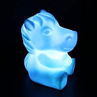 Sj Horse Rotocast Color Changing Night Light