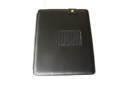 iPad Leather Carrying Case - Black (For iPad 1 Only, Not Compatible with iPad 2)
