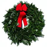 "24"" Pre-Lit Full Angel Pine Christmas Wreath With Clear Lights #H80675"