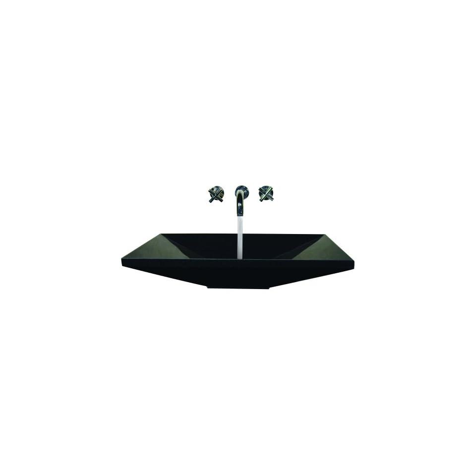 Yosemite RONAT 36B Black Granite Stone Sinks 36 Natural Stone Topmount Euro Lavatory Vessel Sink from the Stone Sinks Collection