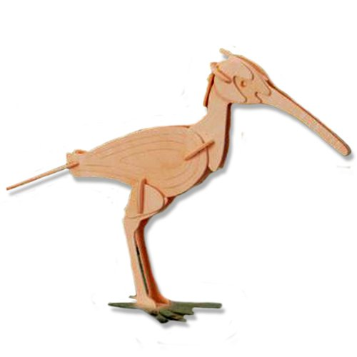 3-D Wooden Puzzle - Small Curlew -Affordable Gift for your Little One! Item #DCHI-WPZ-E035