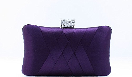 Lucky ST2014 the spring and autumn period and the new fashion evening bag Fine handbags Simple atmospheric model (Purple)