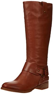 Nine West Women's Valcaria Tall Shaft Riding Boot,Medium Natural Leather,6 M US