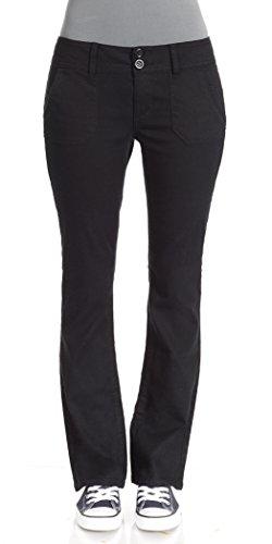 WallFlower Juniors Long Inseam Legendary Bootcut Chino Pants zippered bootcut jeans