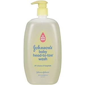 Johnson's Baby Bath Head to Toe Baby Wash, 28 Ounce (Pack of 2)