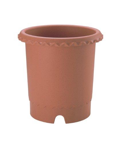 リッチェル バラ鉢 10号 φ300×300H ブラウン