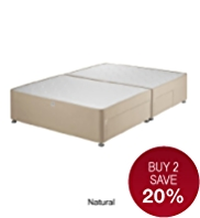 Classic Padded Divan with 2 Small + 2 Large Drawers - 7 Day Delivery