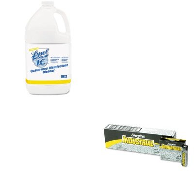 KITEVEEN91RAC74983CT - Value Kit - Lysol Quaternary Disinfectant Cleaner (RAC74983CT) and Energizer Industrial Alkaline Batteries (EVEEN91) kiteveen91rac79132 value kit lysol brand disinfectant spray to go rac79132 and energizer industrial alkaline batteries eveen91