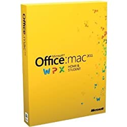 Office for Mac 2011 Home & Student -Family Pack (3Macs/3User) [Old Version]