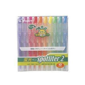 Pilot SGFR-100SL-10C Spotliter 2 Twin Tip 10-Color Set Fluorescent Marker