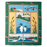 Patch Magic QTLOON Loon Twin Quilt