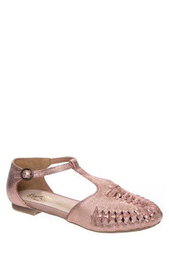 Cayenne Huarache Ankle Strap Flat