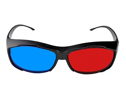 TOUQIANMAO Red-blue 3D Glasses/ Cyan Anaglyph Simple style 3D Glasses 3D movie game-Extra Upgrade Style Free Red&Blue
