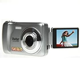 Vivitar VX018-SIL-BXA ViviCam iTwist VX018 Digital Camera with 8x Digital Zoom and 1.8-Inch Flip Screen