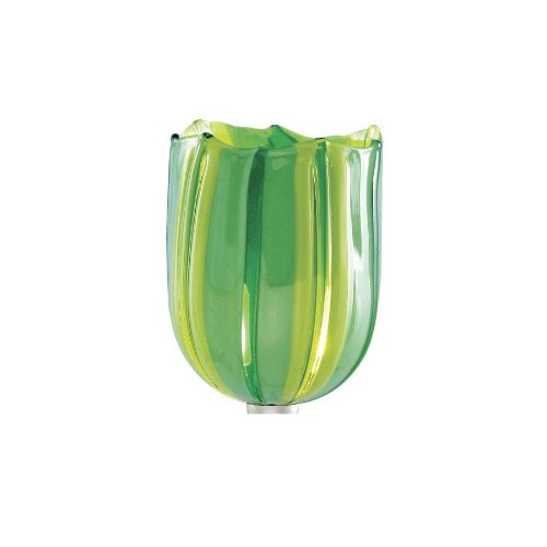 Wac Lighting Ws56-G530Gr/Ch Couture 1-Light Wall Sconce With Green Art Glass Shade And Chrome front-93340