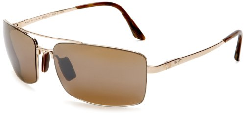 Maui Jim H218-16 Gold Black Rock Aviator Sunglasses Polarised Lens Category 3