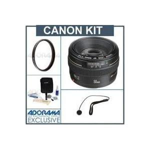 Canon EF 50mm f/1.4 USM Standard AutoFocus Lens Kit, USA