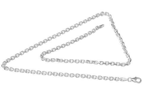VINANI Square Chain massive Kette Sterling Silber 60cm SC60