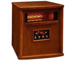 LifeSmart 4 Element Quartz Style IR Heater Oak