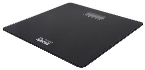 Designer Habitat - Glass Slimline Digital Bathroom Scales in Black with LCD Screen 150kg 330lb