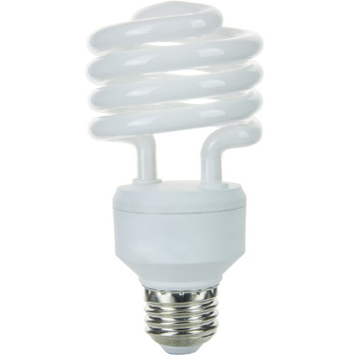 Sunlite SMS23/65K 23-watt Medium Base Super Mini Spiral Energy Saving CFL Light Bulb, Daylight