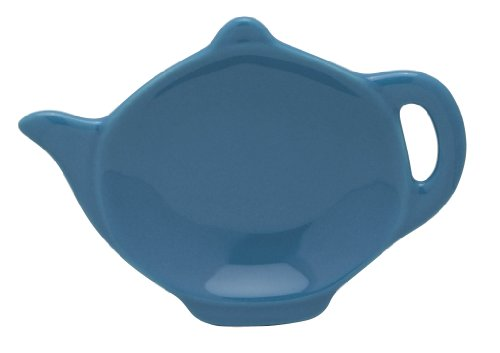 Hic Brands That Cook Transitionals Ceramic Teapot Shape Tea Bag Caddy, Bayberry