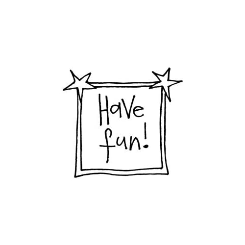 Penny Black Rubber Stamp 1.75X1.75 Fun Banner; 3 Items/Order