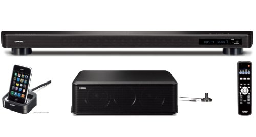 "iLive ITPW891B 37/"" Sound Bar and Wireless Subwoofer for iPod and iPhone"