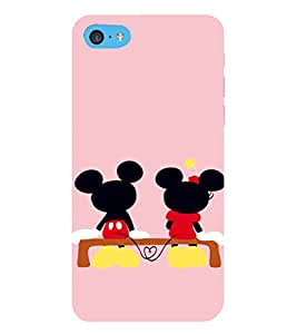 EPICCASE Mini & Mickey Heart Mobile Back Case Cover For Apple iPod Touch 6 (Designer Case)