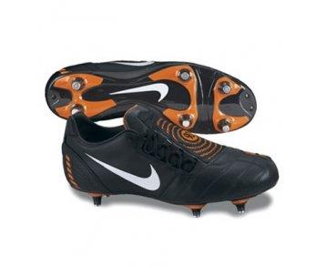 Nike Total 90 Shoot II Extra Soft Ground Football Boots - Black/White/Orange Blaze - UK Size 10 (Europe Size 45)