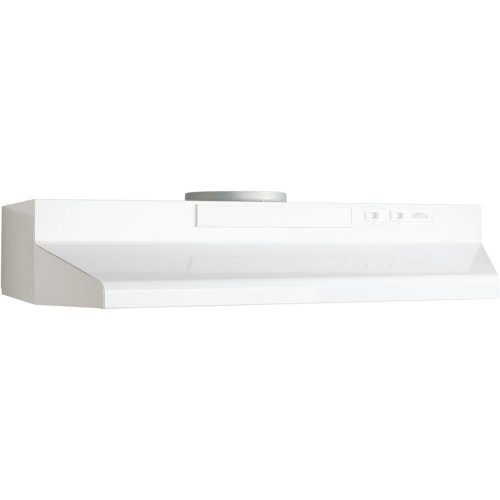 Broan F404211 42-Inch Two Speed 4-Way Convertible Range Hood, White on White