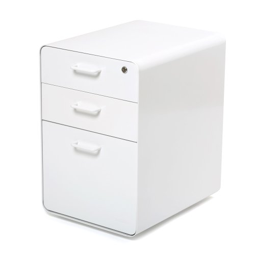 Poppin Locking Metal File Cabinet, 3-drawer,