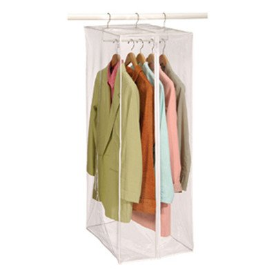 Richards Homewares - Clear Vinyl Storage Maxi Rack Suit Garment Cover (Garment Bag For Closet compare prices)