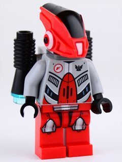 New Lego Galaxy Quest Red Robot w/Jet Pack 2