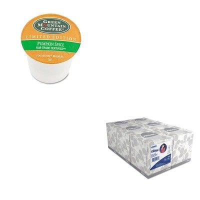 Kitgmt6758Kim21271 - Value Kit - Green Mountain Coffee Roasters Fair Trade Certified Pumpkin Spice Flavored Coffee K-Cups (Gmt6758) And Kimberly Clark Kleenex White Facial Tissue (Kim21271)