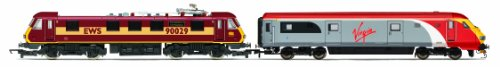 Hornby R2955 Virgin Charter Relief - EWS Class 90 & Mk3 DVT 00 Gauge DCC Ready Train Pack