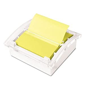 Clear Top Pop-up Note Dispenser for 3 x 3 Self-Stick Notes, White, Sold as 1 Each