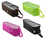 KLOUD City ® 5 colors nylon double-zipper travel portable shoe storage bag