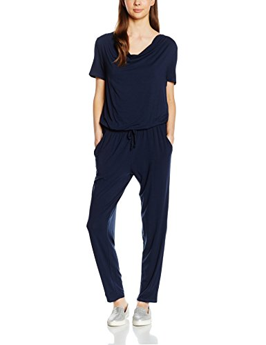 Tom Tailor - feminine waterfall jumpsuit, Tuta intera Donna, Blau (real navy blue 6593), M (Tallia Produttore: 38)