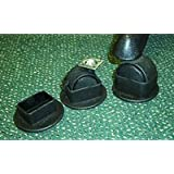 Glide Snap Fit Caster Cups for double wheel castors and carpet. 45mm dia (Click for other sizes). Set of 4