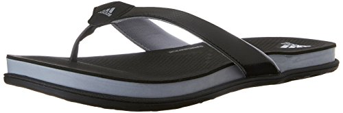 Adidas Performance Women's Supercloud Plus Thong W Athletic Sandal,Black/Mid Grey/Silver,9 M US