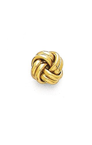 14K Yellow Gold Solid Love Knot Tie Tac-86701