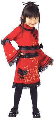 China Doll Girls Toddler Kids Halloween Costume