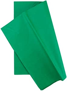 Cindus Tissue Wrap, 20 by 26-Inch, 10-Pack, Emerald Green