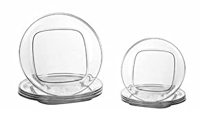 CreativeWare Unbreakable Set Lunch and Dinnerware Plates (4 Each)